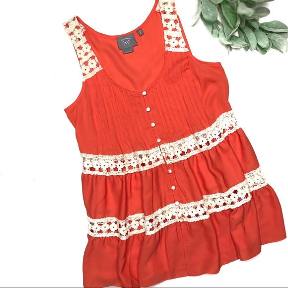 Anthropologie Tops - VANESSA VIRGINIA | sz 2 orange Melisande blouse